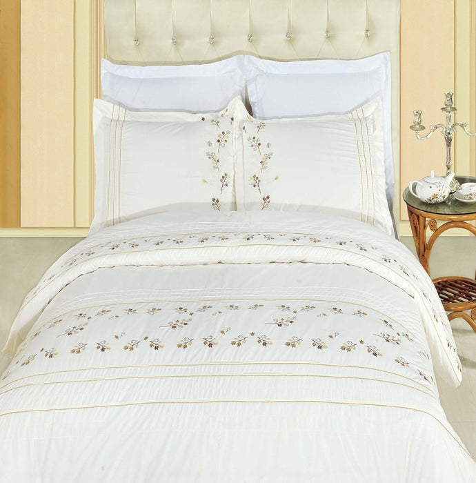 Bed Linen-Duvet Cover Set-Full-Queen-3 Piece-Egyptian Cotton-Tasneen