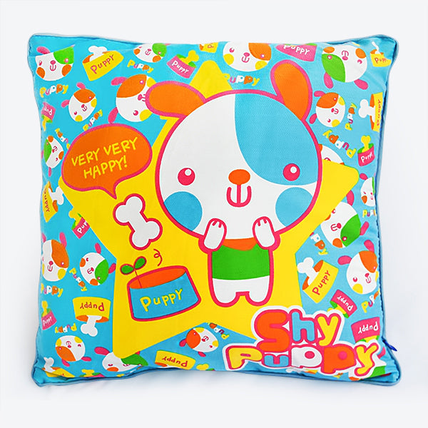 Floor Cushion-Pillow-Children-Shy Puppy-Kids Decor