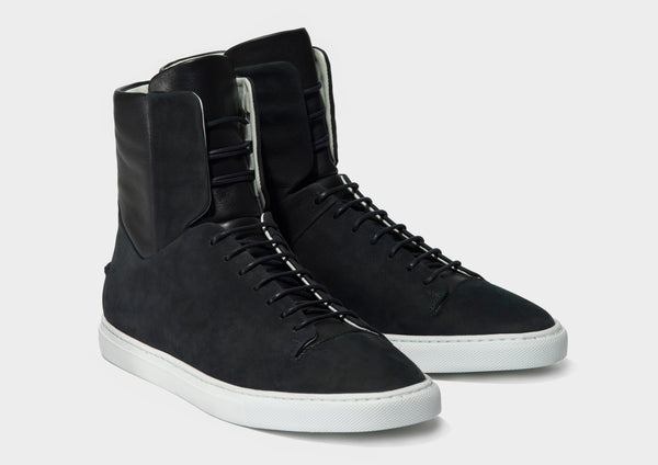CLEAN HI - BLACK NUBUCK