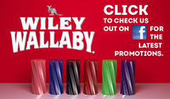 Wiley Wallaby: Click to check us out on Facebook for the latest promotions.