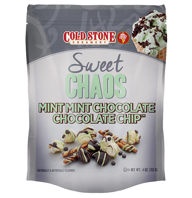 Sweet Chaos Cold Stone Mint Mint Chocolate Chocolate Chip - front of bag