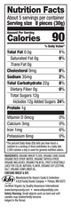 Nutrition Facts - Wiley Wallaby Organic Black Licorice Bites