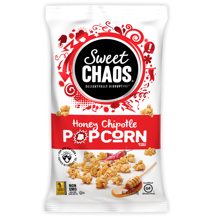 Sweet Chaos Honey Chipotle Popcorn - front of bag