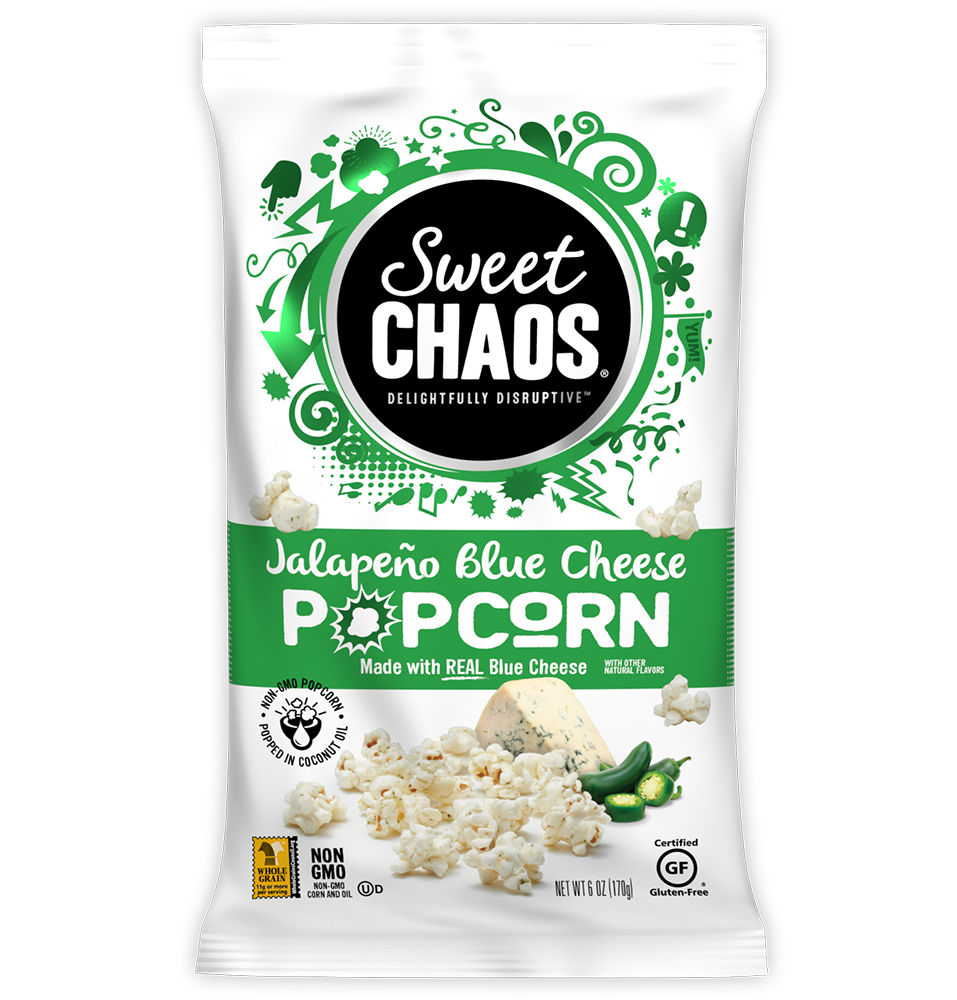 Sweet Chaos Jalapeño Blue Cheese Popcorn