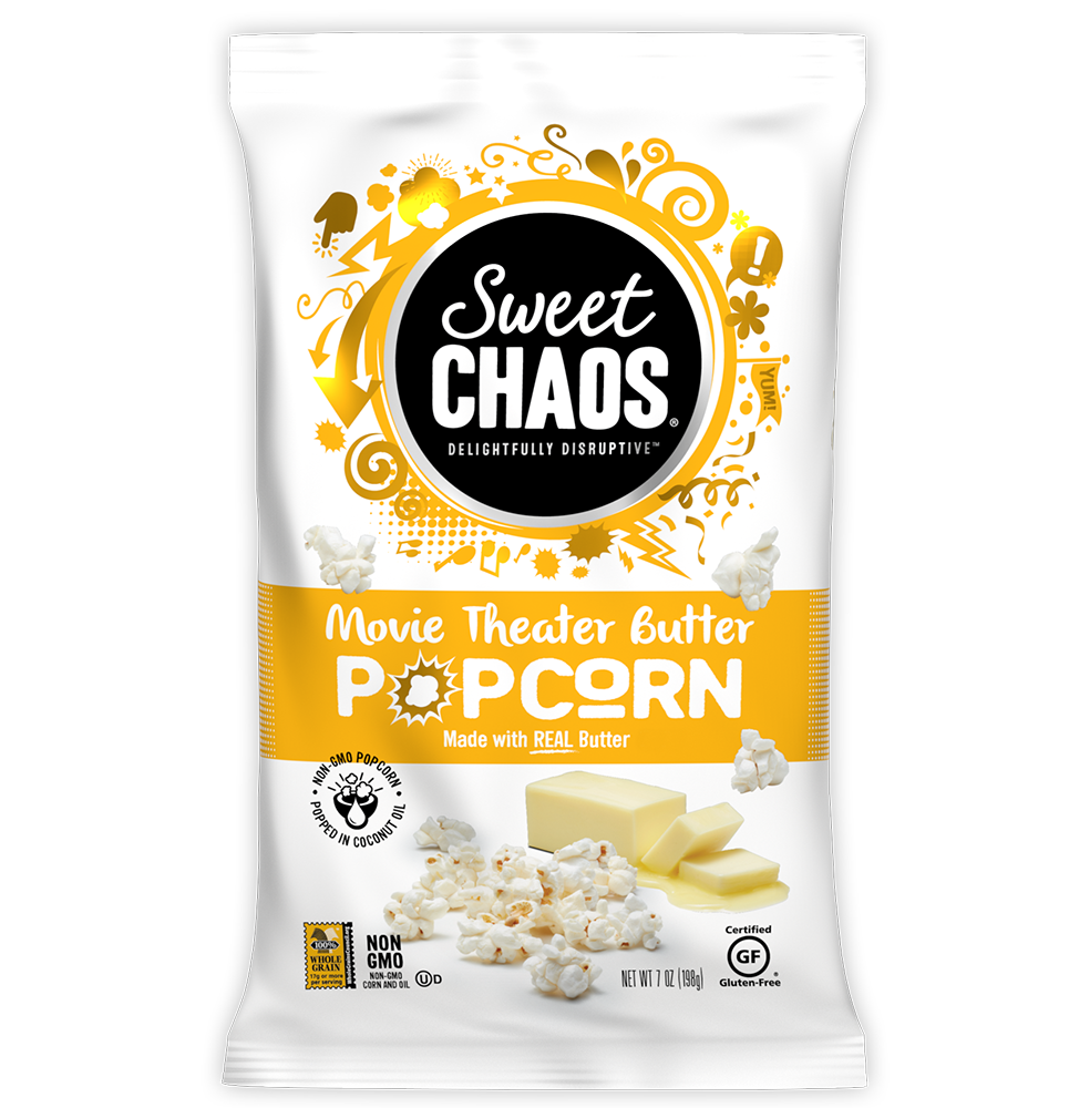 Sweet Chaos Movie Theater Butter Popcorn
