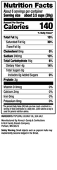 Nutrition Facts - Sweet Chaos Sea Salt Popcorn