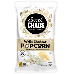 Sweet Chaos White Cheddar Popcorn - front of bag