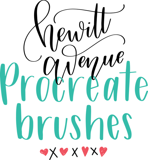 Procreate App Brushes for Hand Lettering + Free Custom Procreate Brush