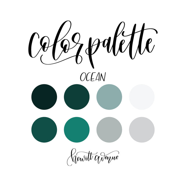 Ocean Color Pallette Freebie
