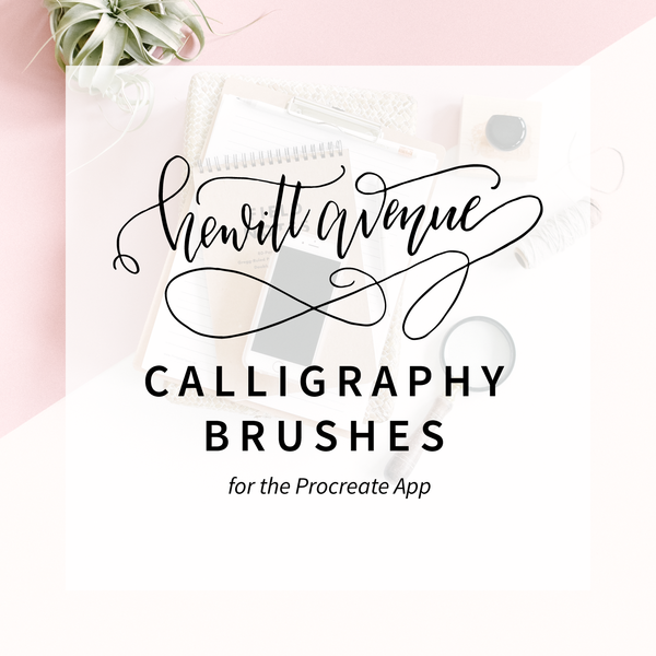 Calligraphy Procreate Brushes