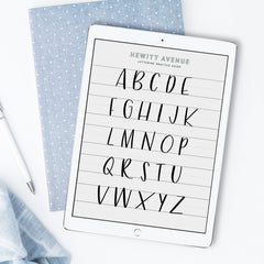 Free lettering guide