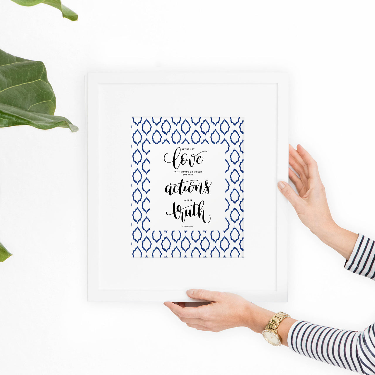 John 3:18 Printable Art - Hewitt Avenue