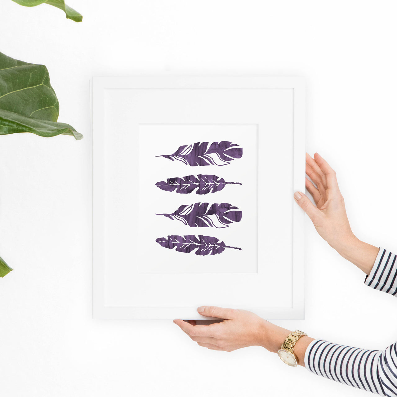 Bohomian Watercolor Feathers Printable Art - Hewitt Avenue