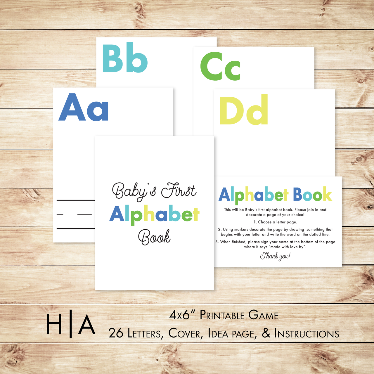 DIY Alphabet Book Baby Shower Activity Game - Hewitt Avenue