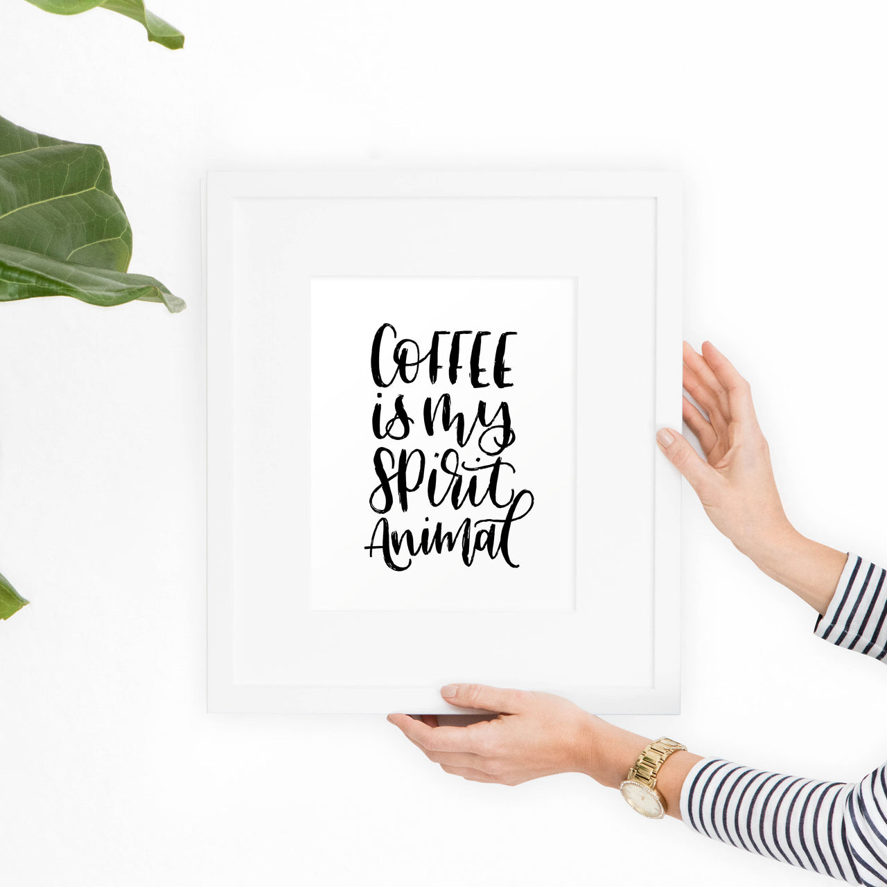 Coffee Printable Art - Black and White - Hewitt Avenue