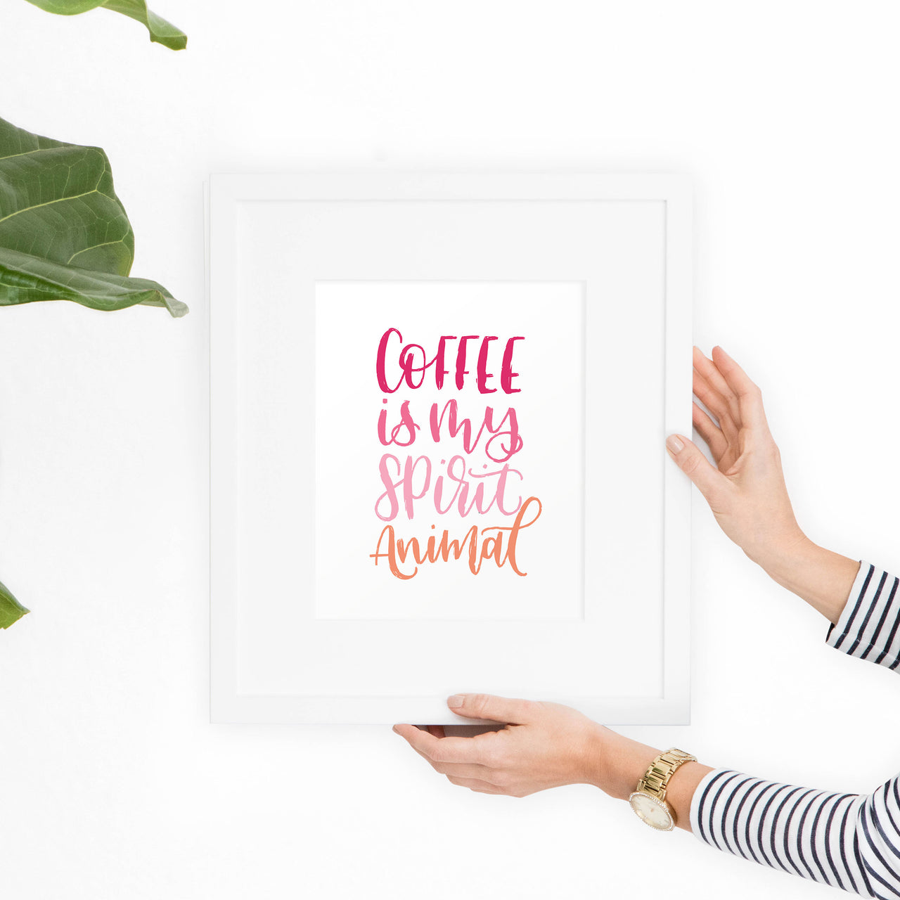 Coffee Printable Art - Pink - Hewitt Avenue
