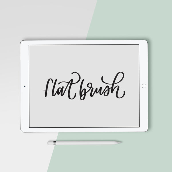 Flat Brush - Procreate Brush