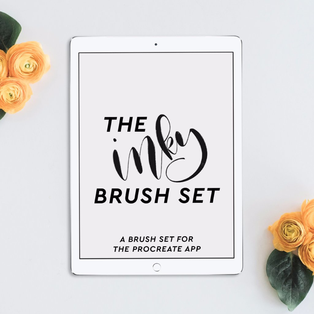 iPad Lettering Inky Brush Set for Procreate App