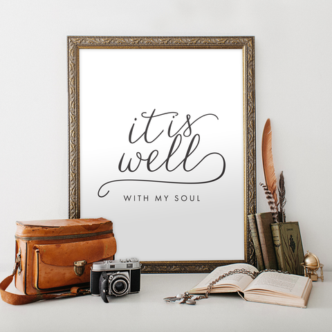 It is Well with My Soul Hymn Printable Art
