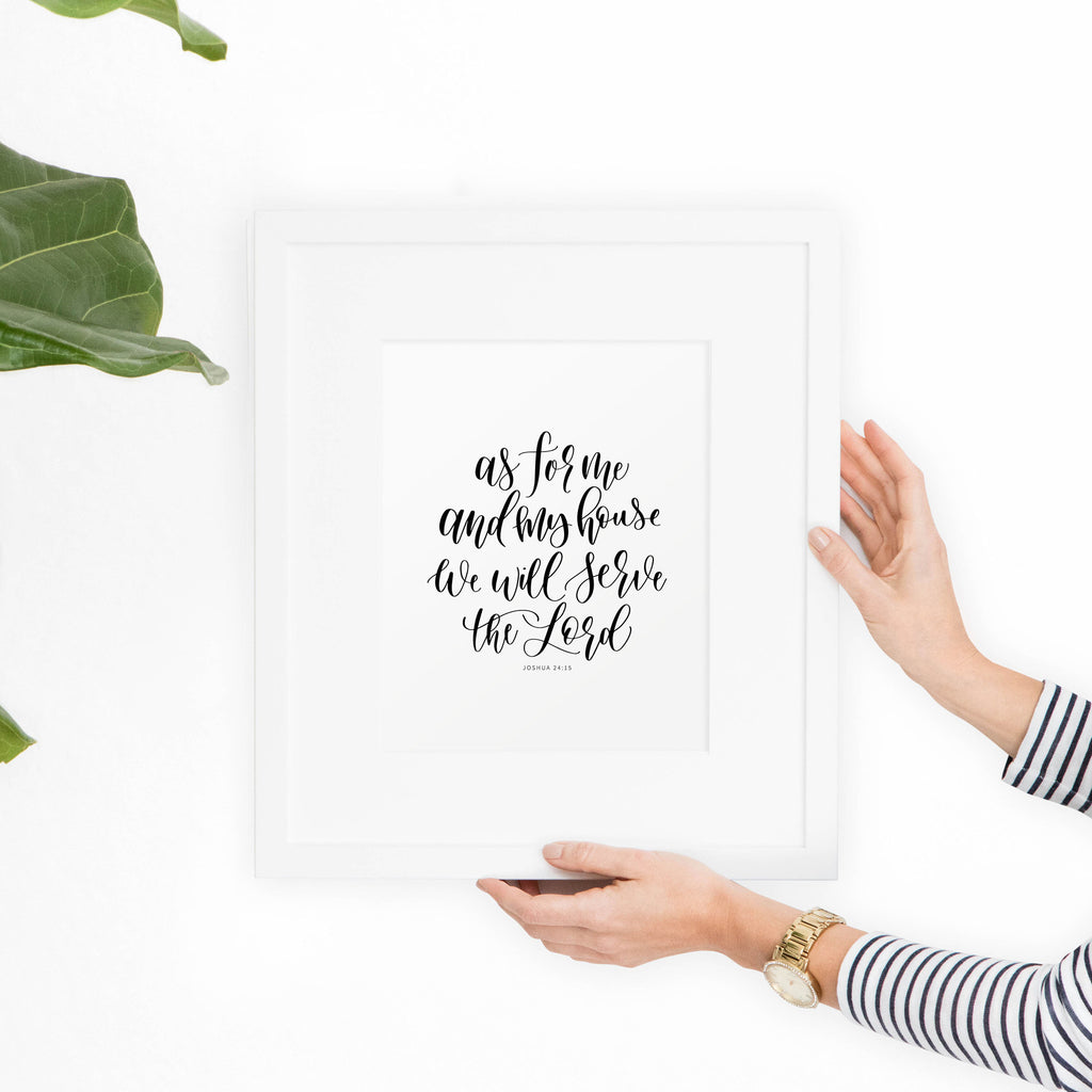 Joshua 24:15 Printable Art - Hewitt Avenue