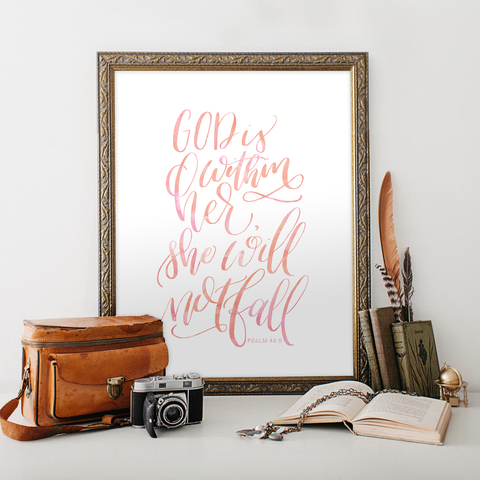Psalm 46 Printable Art