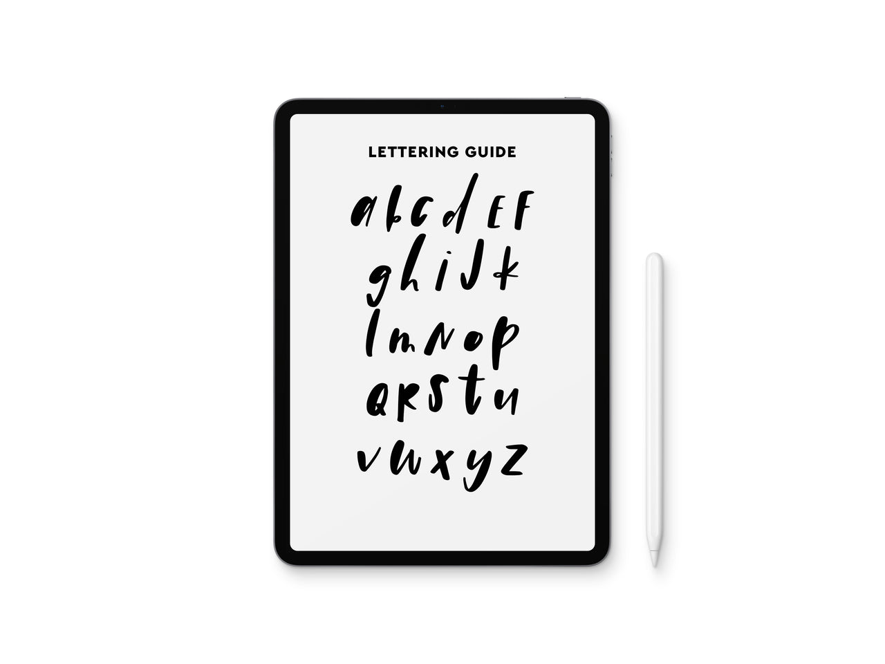 Boho Style Lettering Guide
