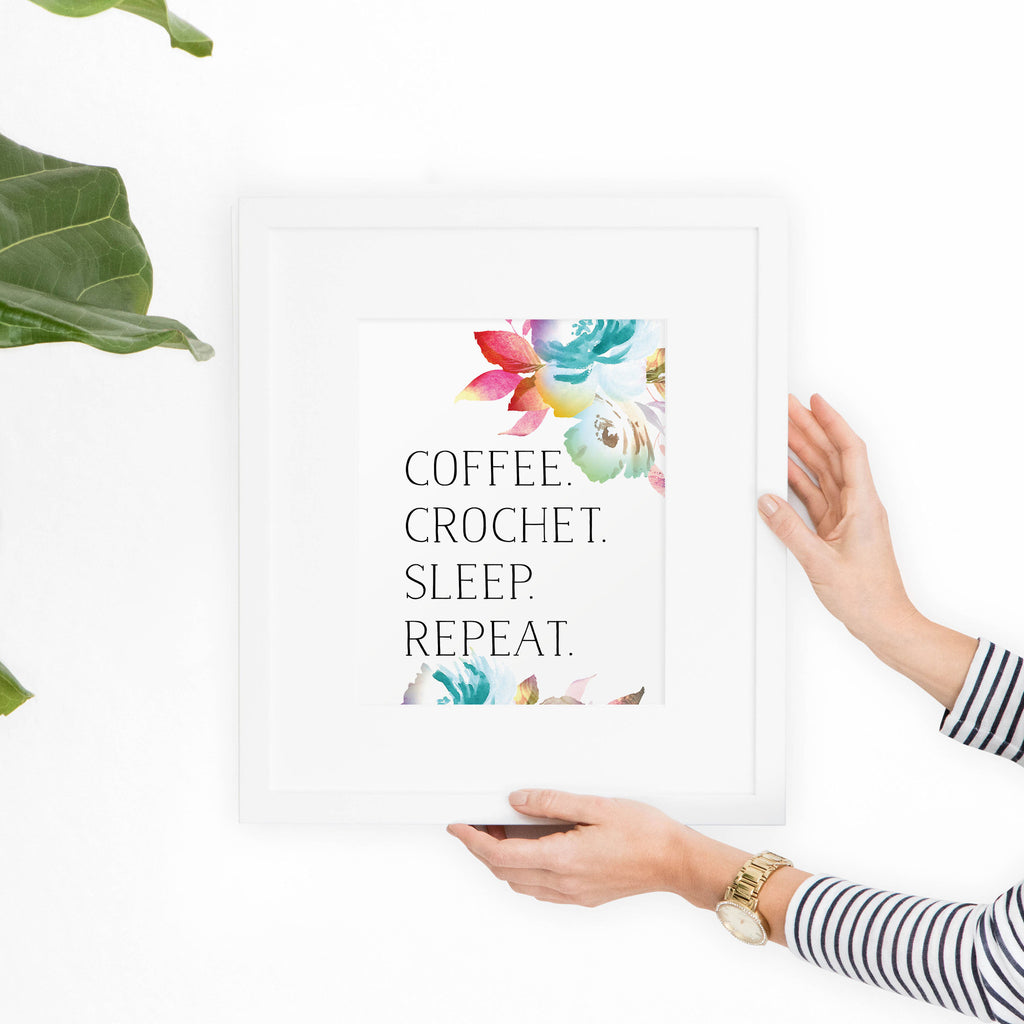 Crochet + Coffee Printable Art - Hewitt Avenue