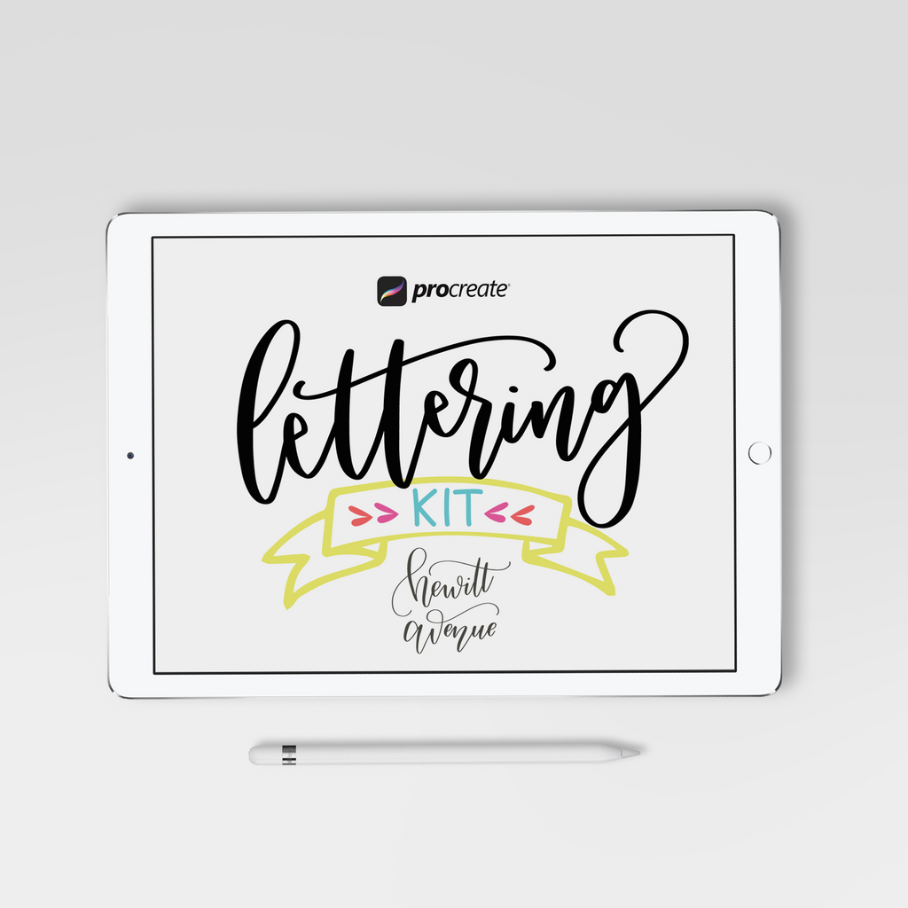 Procreate Lettering Kit - Hewitt Avenue