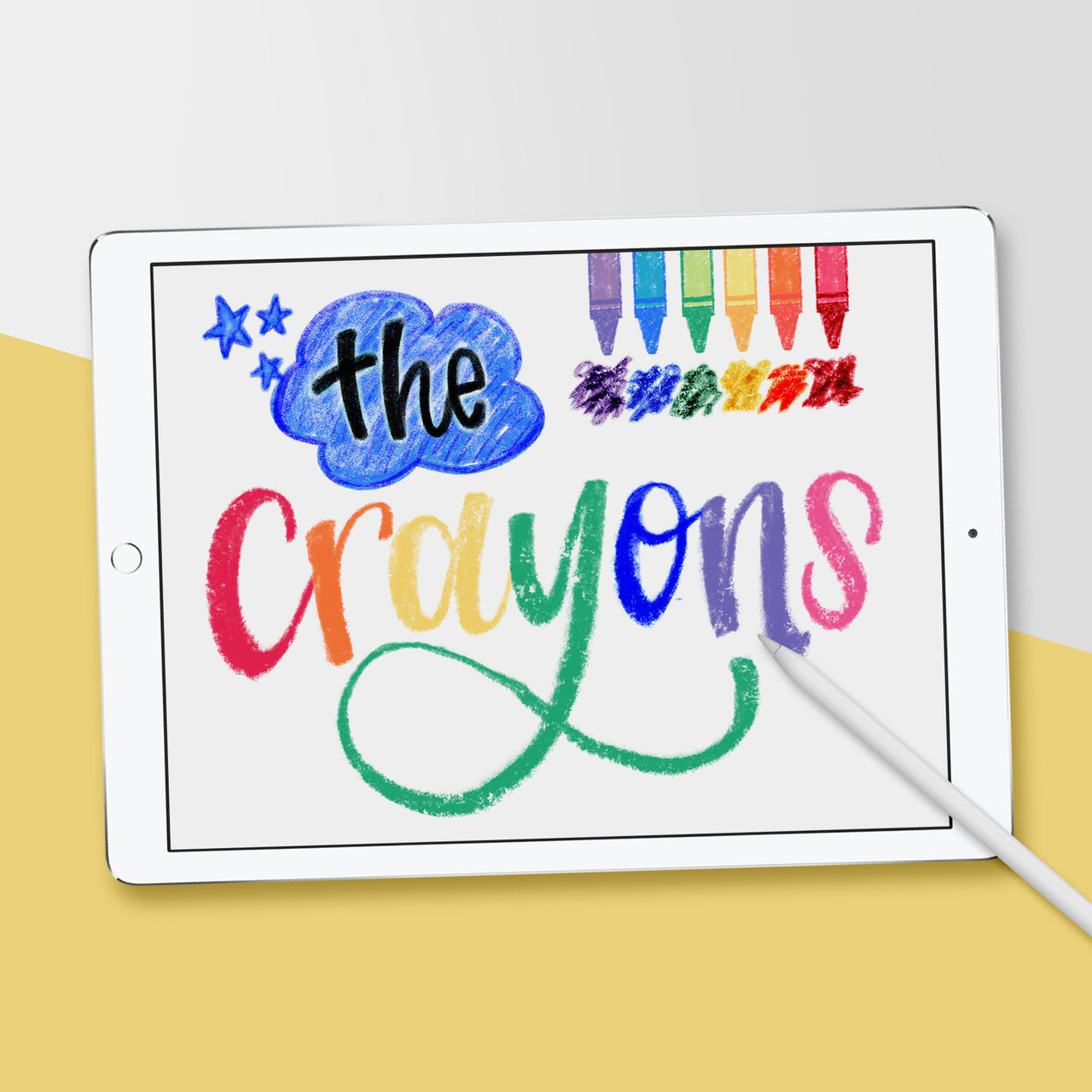 Crayon Procreate Brushes - Hewitt Avenue