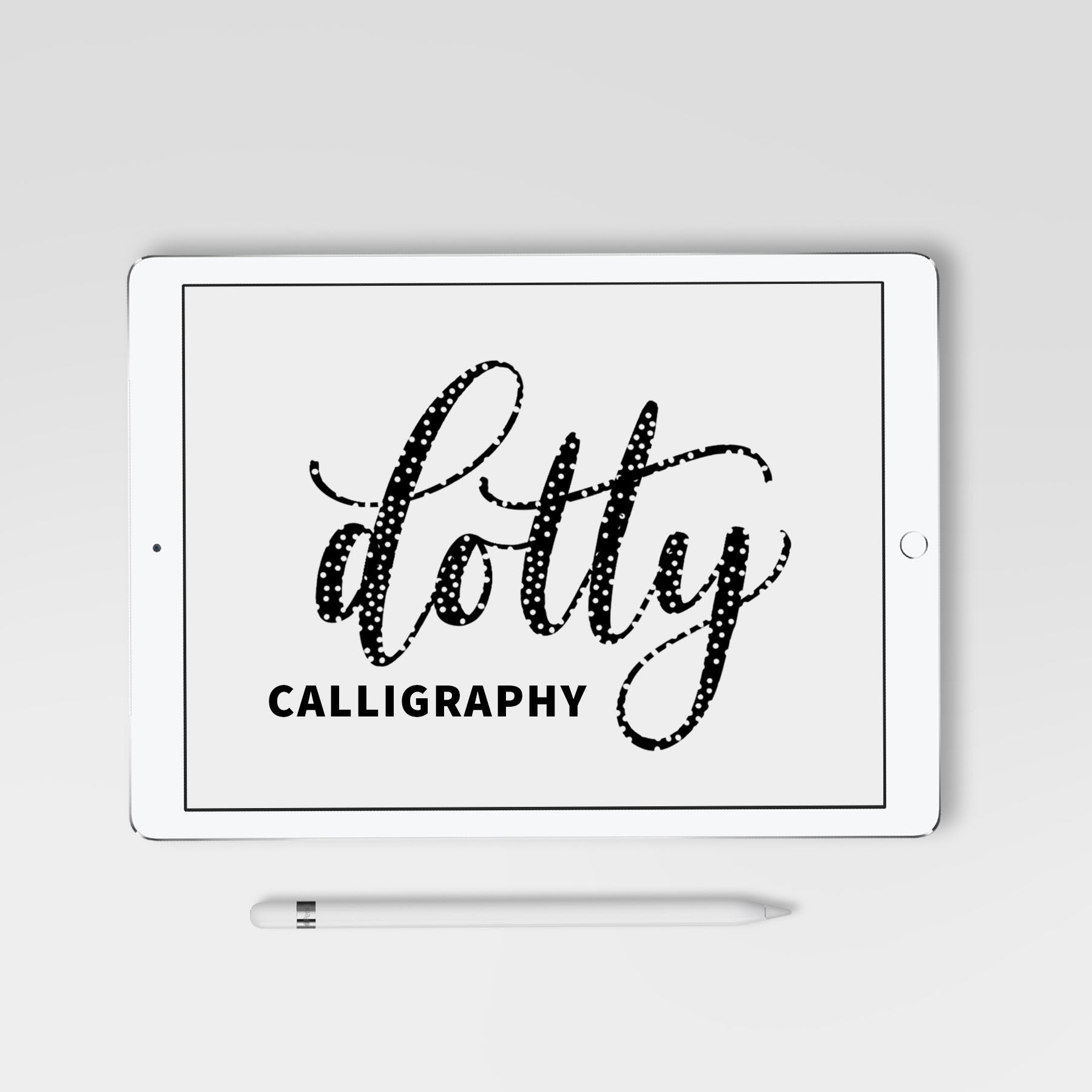 Dotty Calligraphy Procreate Brush