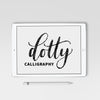 Dotty Calligraphy Procreate Brush - Hewitt Avenue
