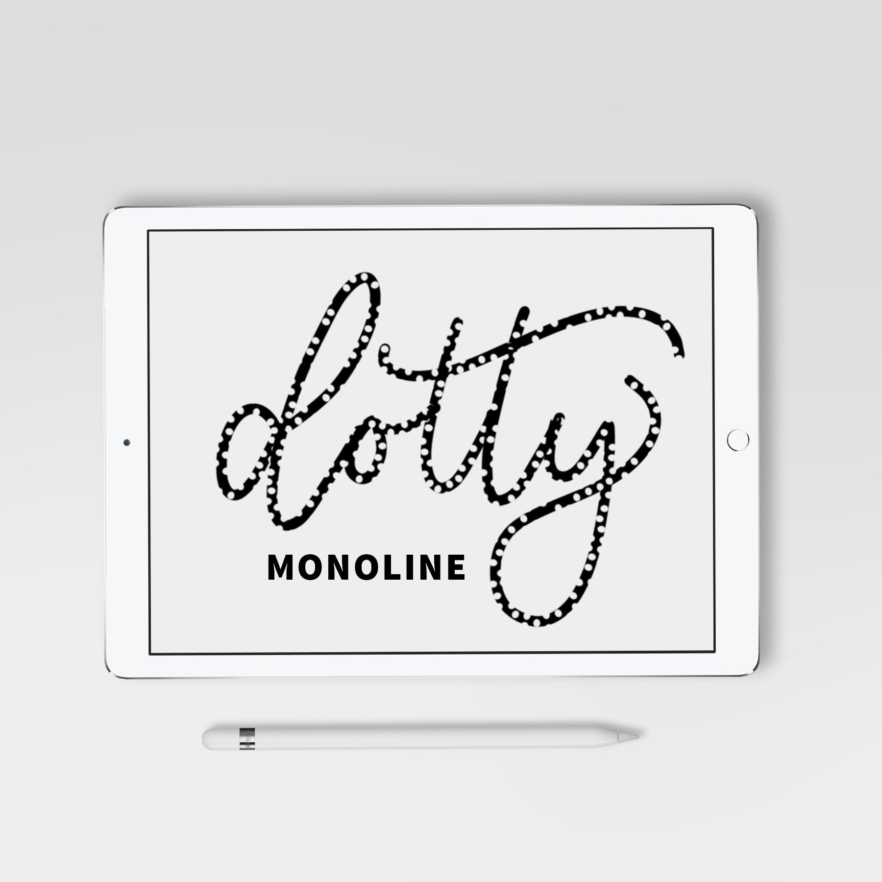 Dotty Monoline Procreate Brush