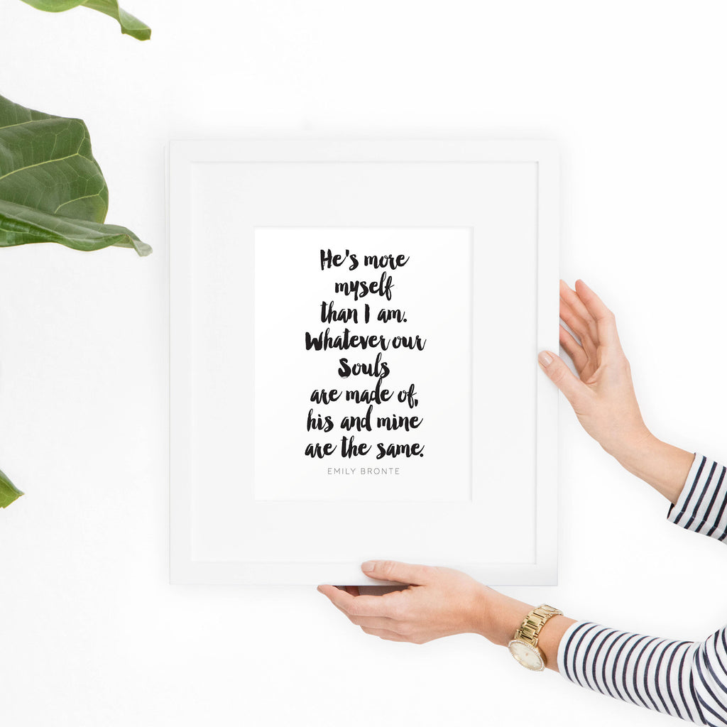 Emily Bronte Printable Art Quote - Hewitt Avenue