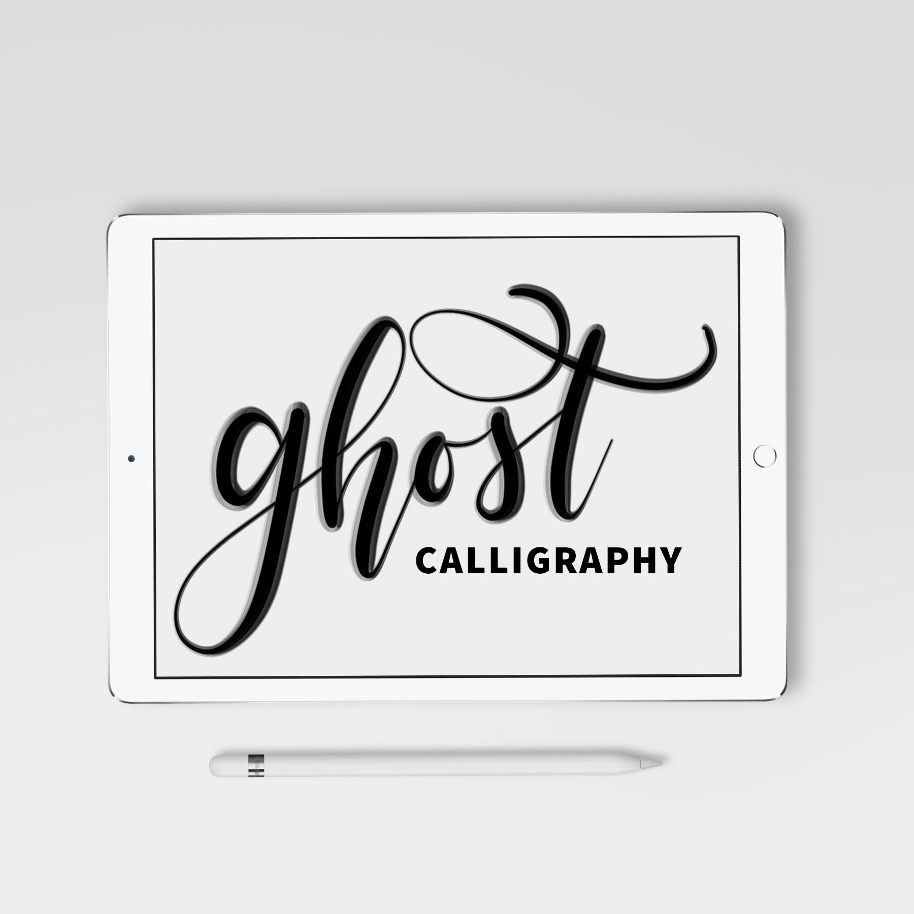 Ghost Calligraphy Procreate Brush