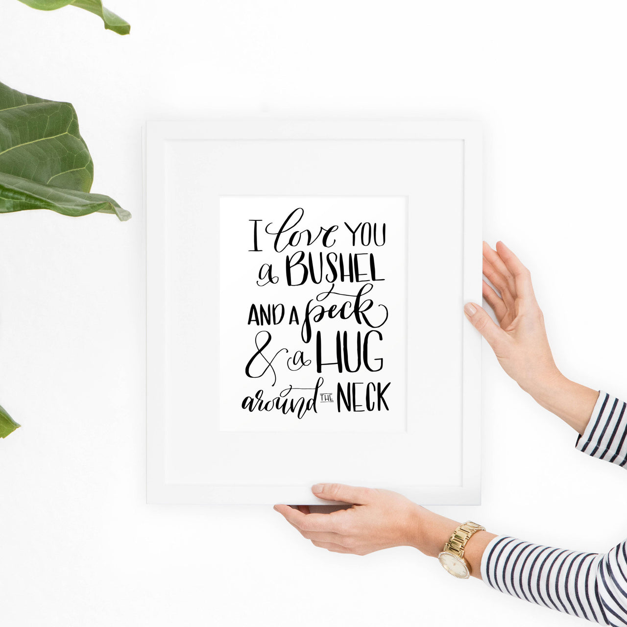I Love You a Bushel Art Print - Hewitt Avenue