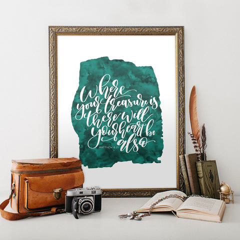 Matthew 6:21 Printable Art