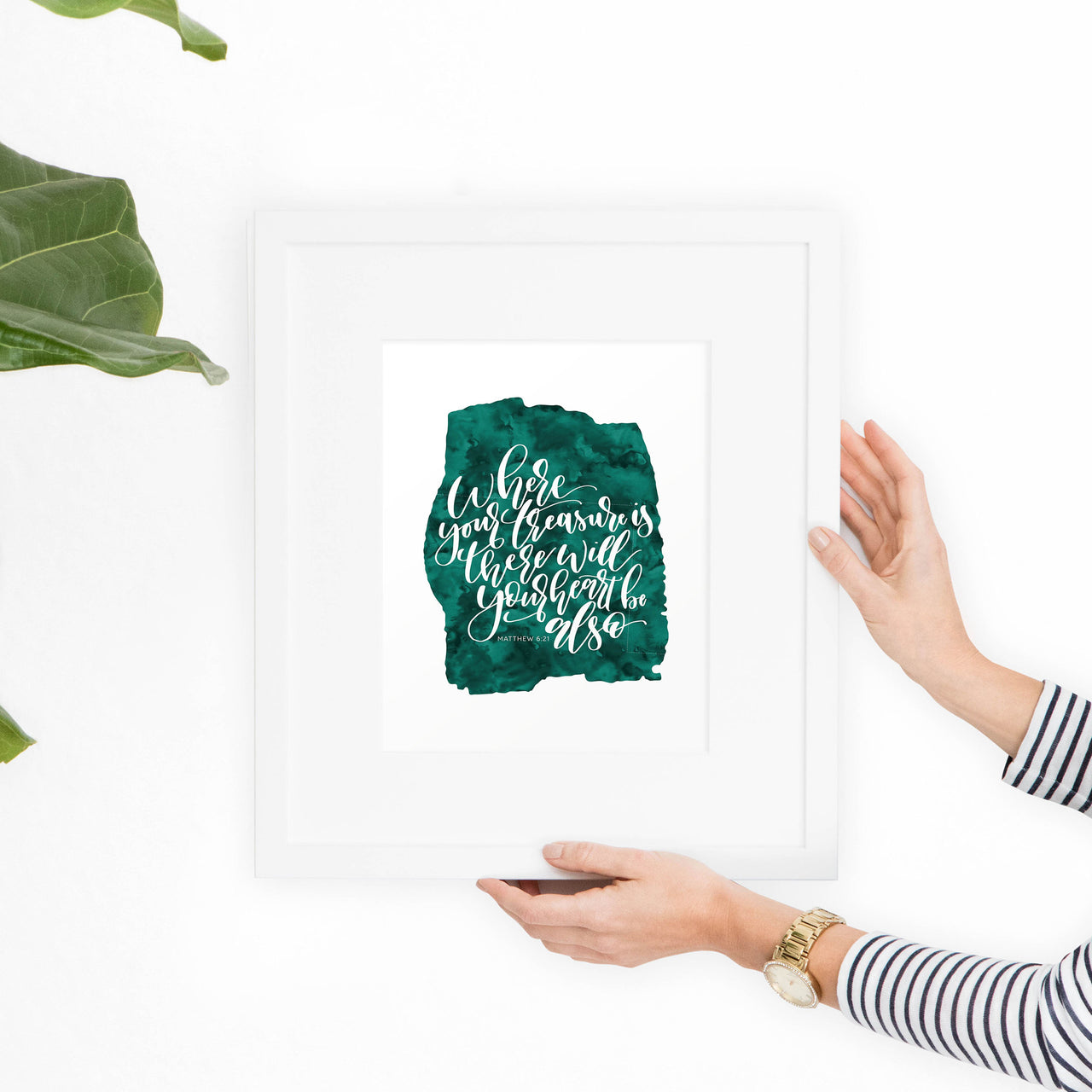 Matthew 6:21 Printable Art - Hewitt Avenue