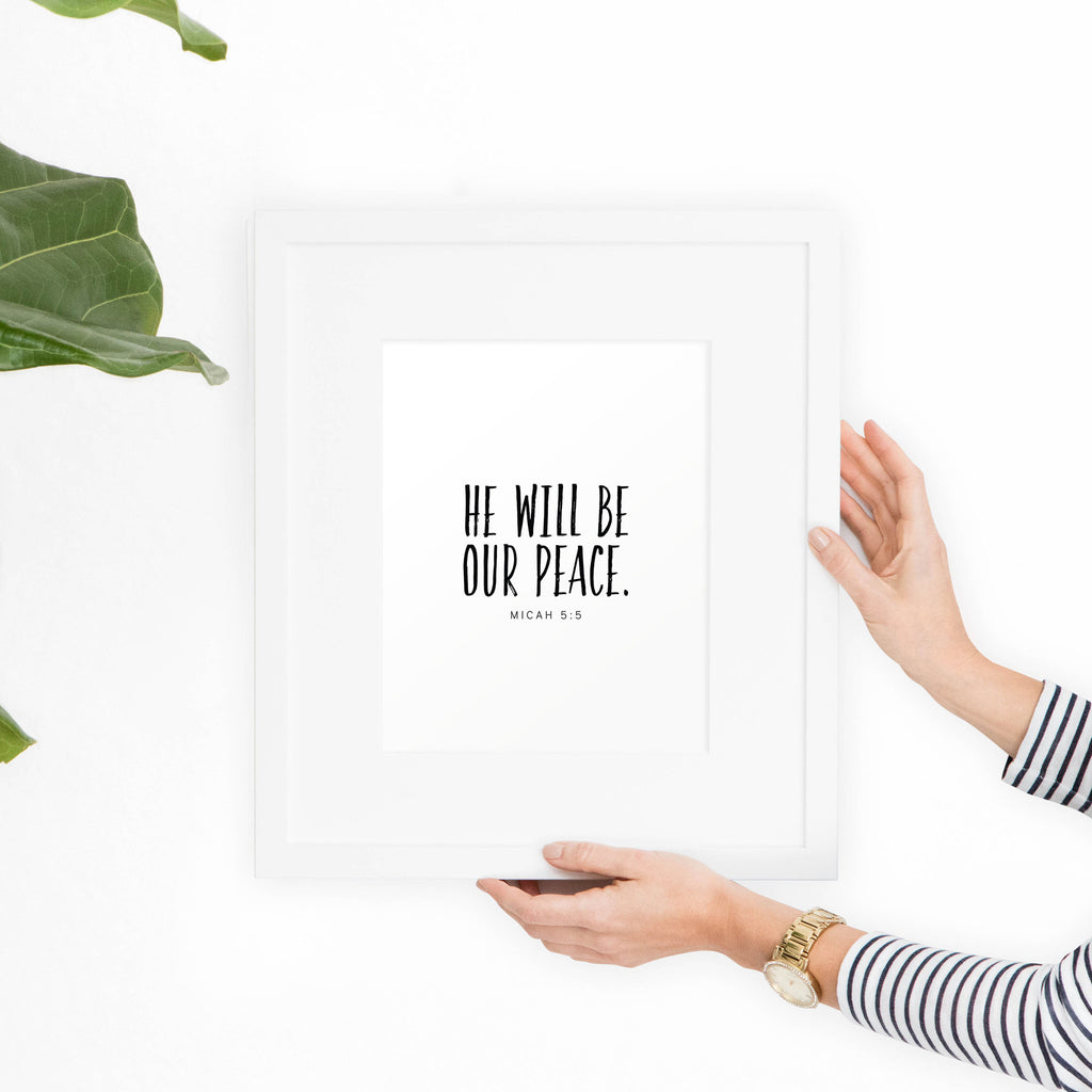 Micah 5:5 Printable Art - Hewitt Avenue