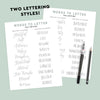 FALL Lettering Practice Sheets, iPad Lettering, Words to Letter Fall Edition - Hewitt Avenue