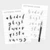 Lowercase Modern Brush Lettering Guide, iPad Lettering, Procreate App, Learn Calligraphy - Hewitt Avenue