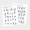 BUNDLE Uppercase and Lowercase Lettering Guides - Hewitt Avenue