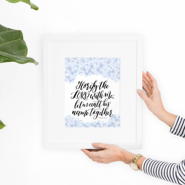 Psalm 34 Printable Art - Hewitt Avenue