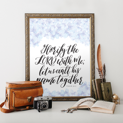 Psalm 34 Printable Art