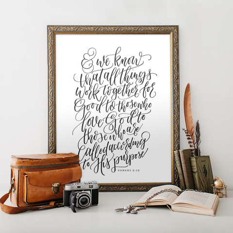 Romans 8:28 Printable Art