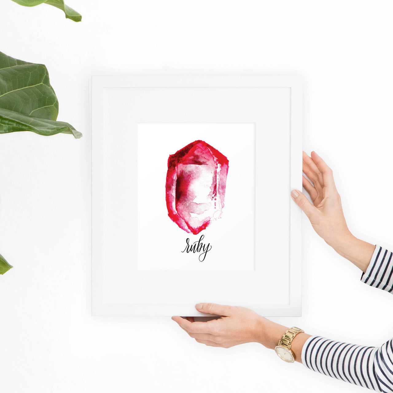 Ruby Birthstone Printable Art - Hewitt Avenue
