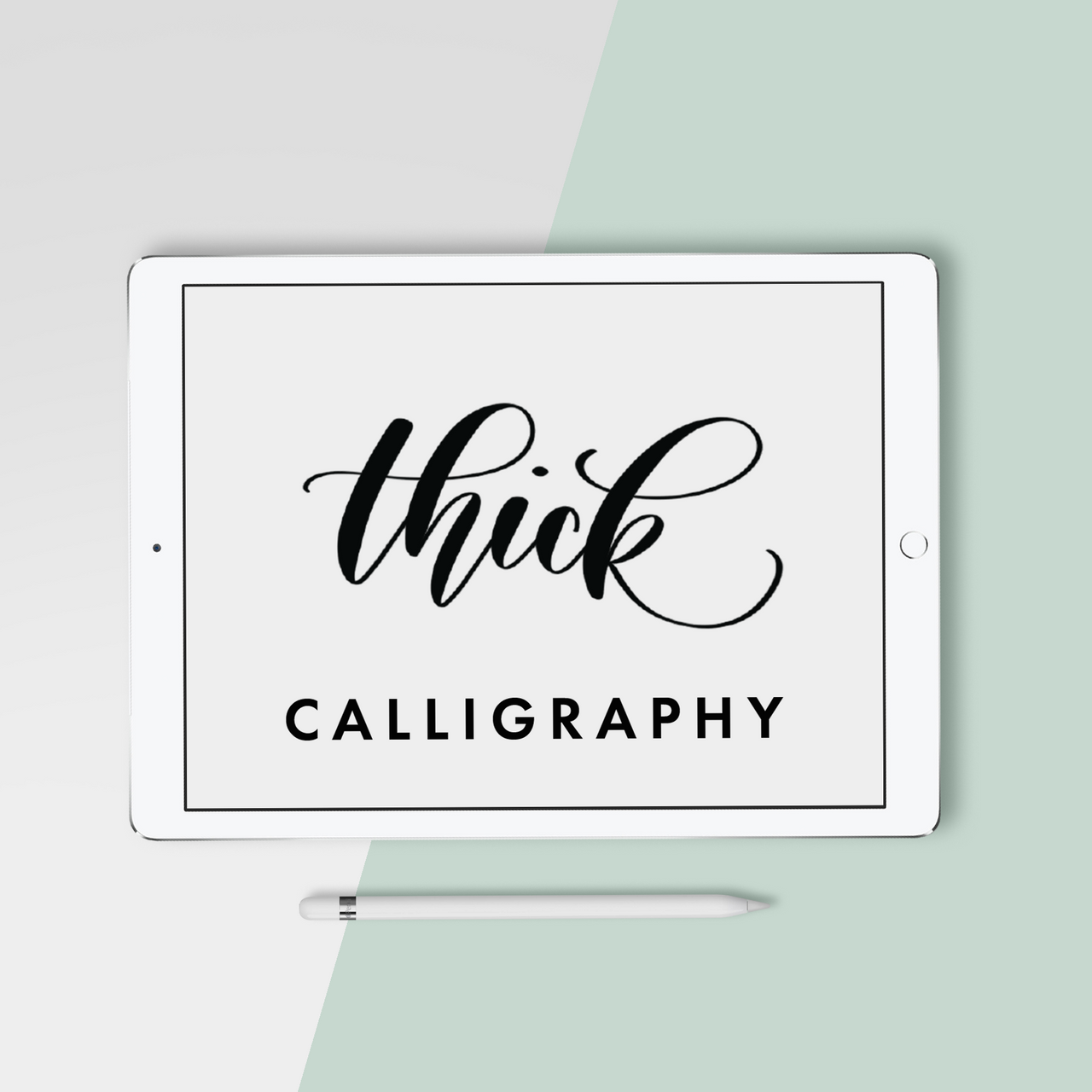 Thick Calligraphy Procreate Brush - Hewitt Avenue