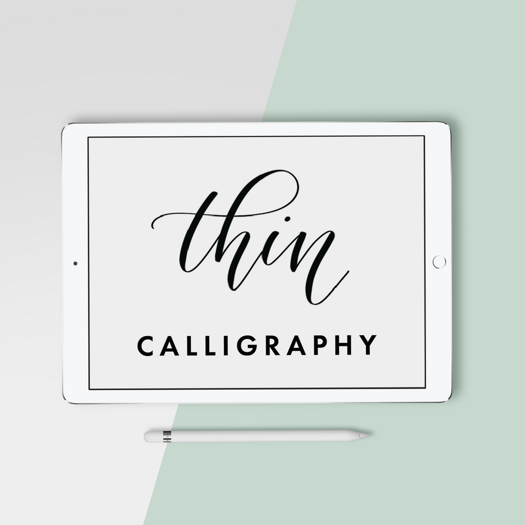 Thin Calligraphy Procreate Brush - Hewitt Avenue