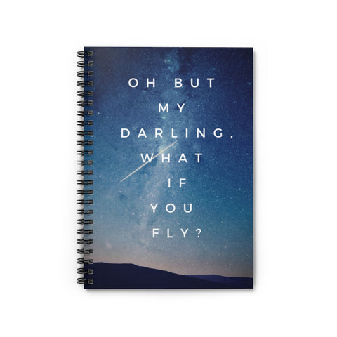 Aerial Oh Darling Meme Spiral Notebook - Ruled Line