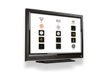 "Digital Visual Acuity Panel Chart w/ remote and 24"" TV"