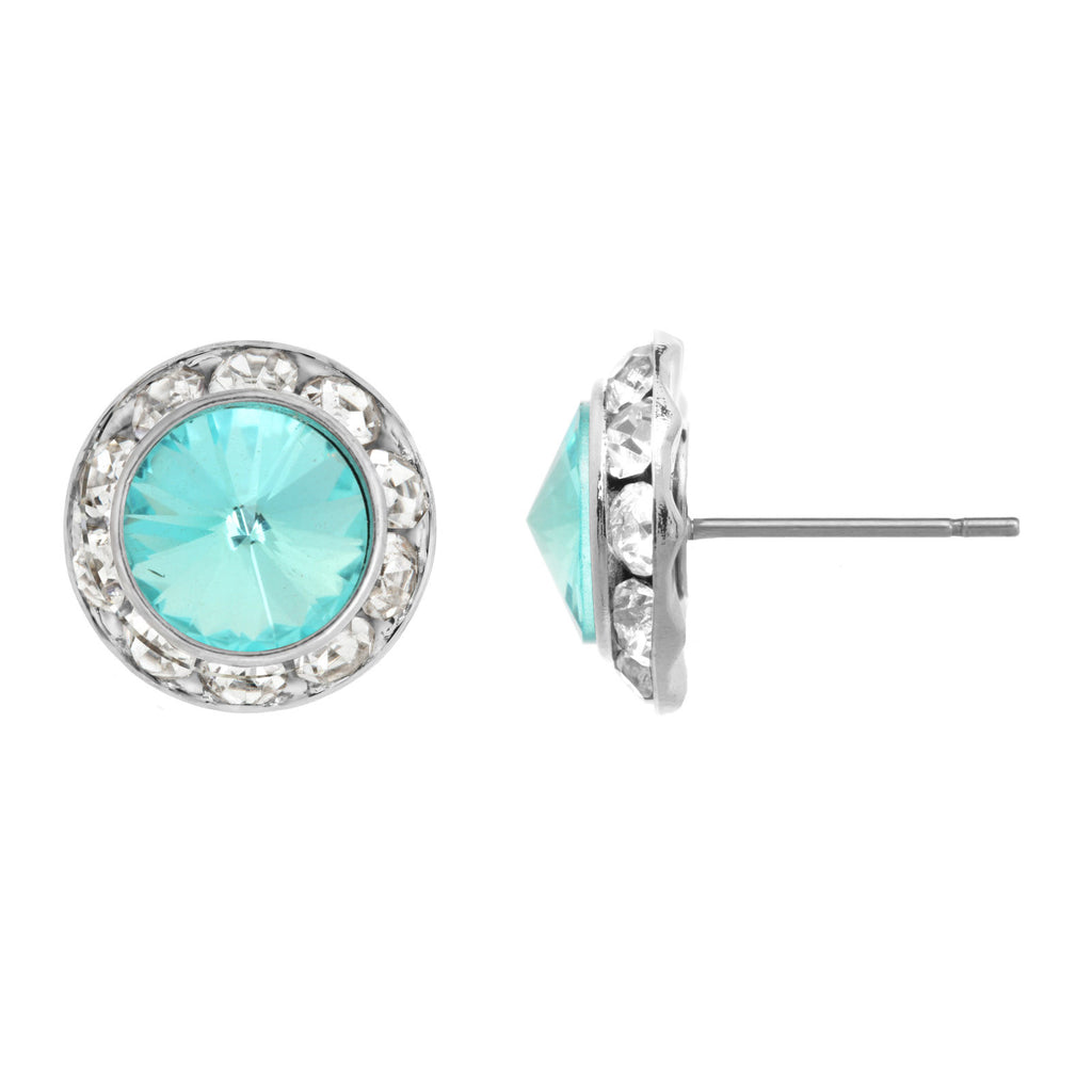 Faceted Crystal Stud Earring<br>Additional Colors Available